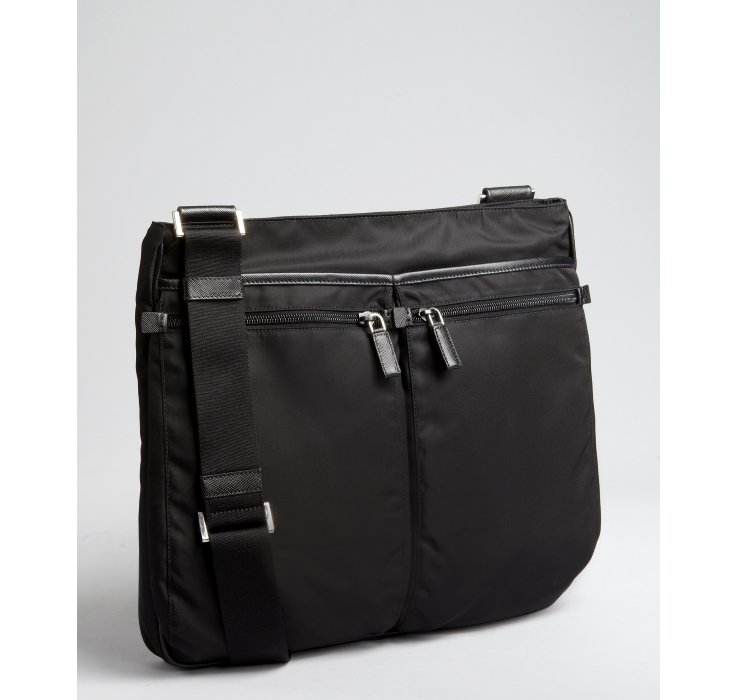 cdef4a8180a860 ... discount code for lyst prada black nylon multipocket messenger bag in  black for men dc398 90622