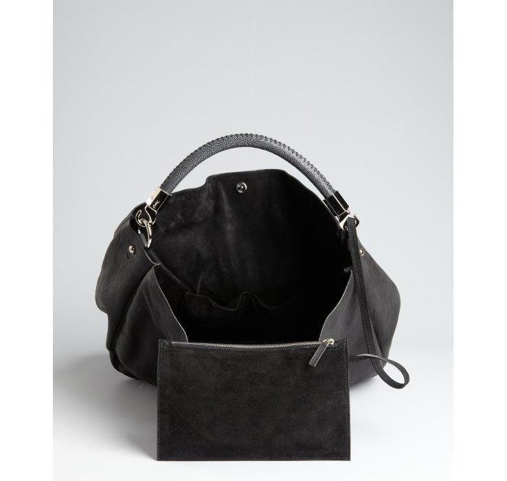 shop ysl handbags - yves saint laurent metallic leather roady hobo, yves saint laurent ...