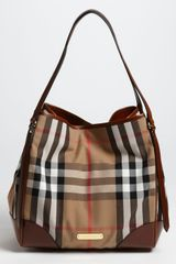 Burberry Check Print Tote