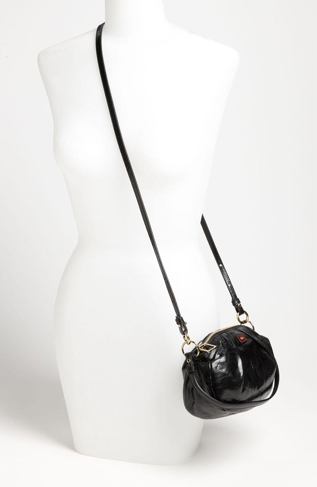 Chlo¨¦ Ethel Convertible Leather Bag in Black (black/ moka) | Lyst