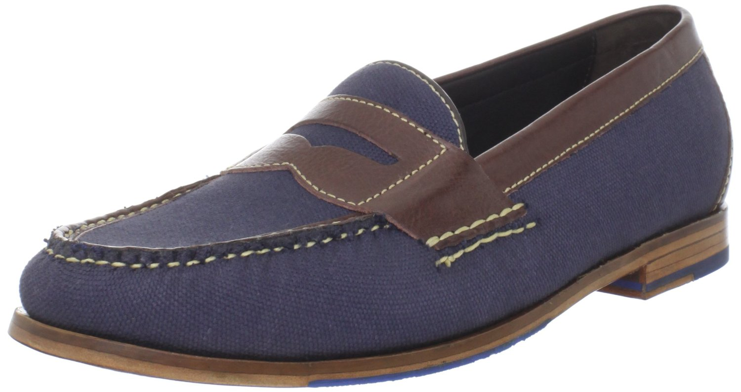 cole haan cole haan mens pinch air penny loafer in blue. Black Bedroom Furniture Sets. Home Design Ideas