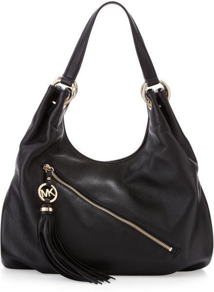 Michael Michael Kors Leather Shoulder Bag Black In Black