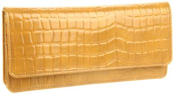 Tusk Tusk Antique Croco Gusseted Clutch Wallet - Lyst