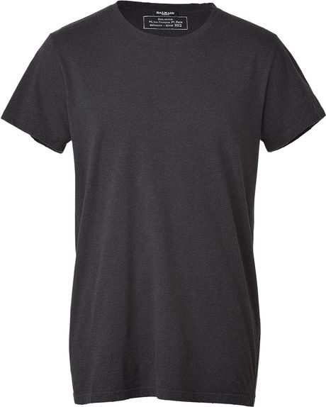 Balmain Anthracite Vintage Crew Neck Tshirt in Gray for Men (anthracite)