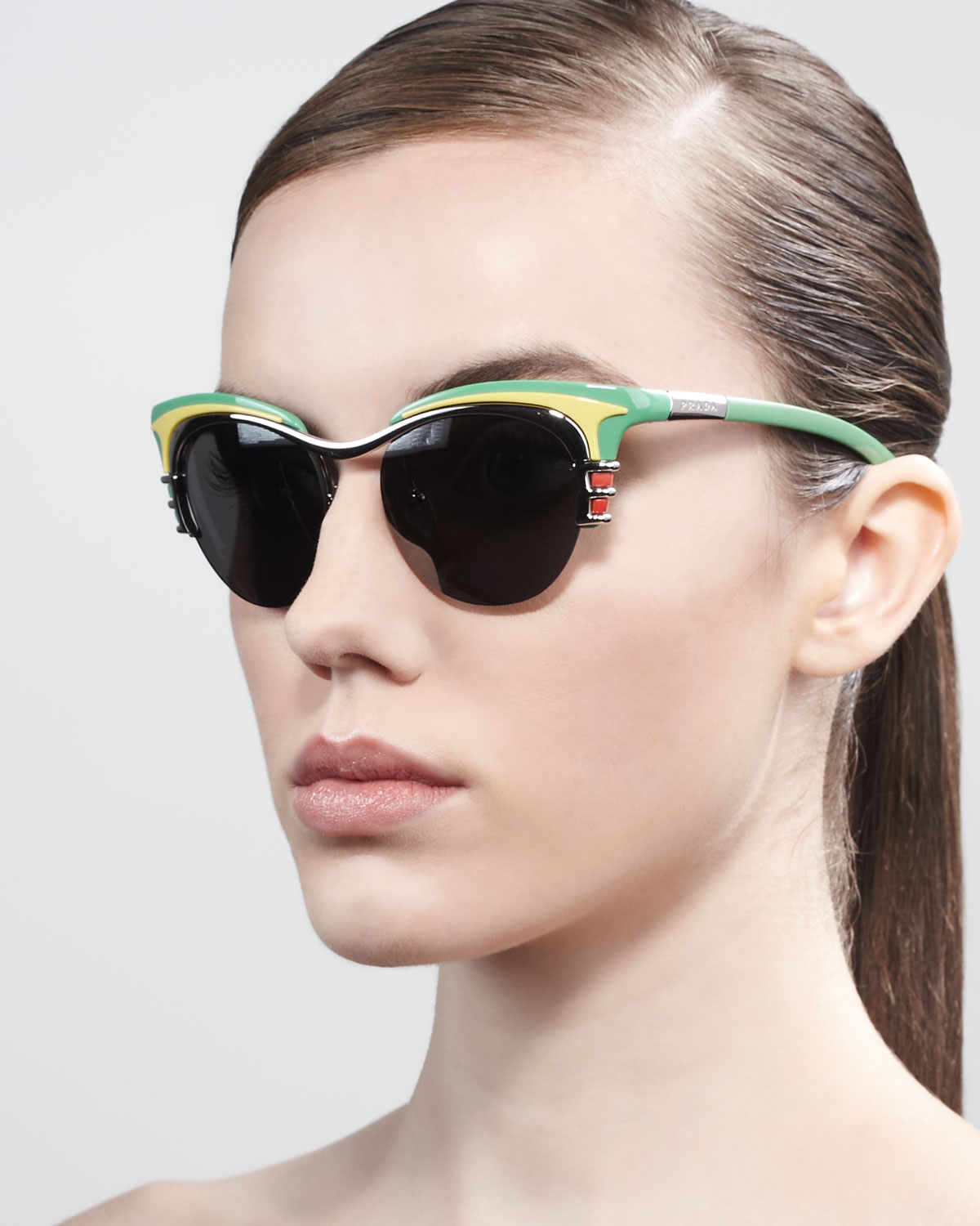 047cd6614a419 Prada Dixie Car Deluxe Club Master Sunglasses in Yellow - Lyst