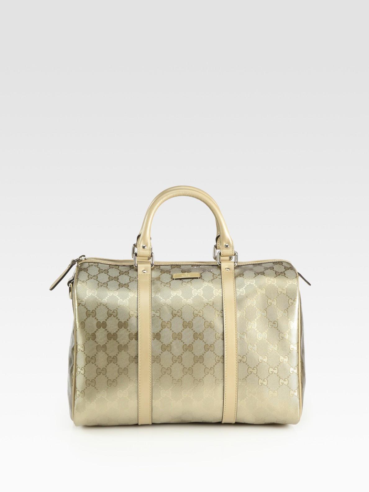 5c7aa22145bc7 Lyst - Gucci Joy Boston Jacquard Top Handle Bag in Metallic