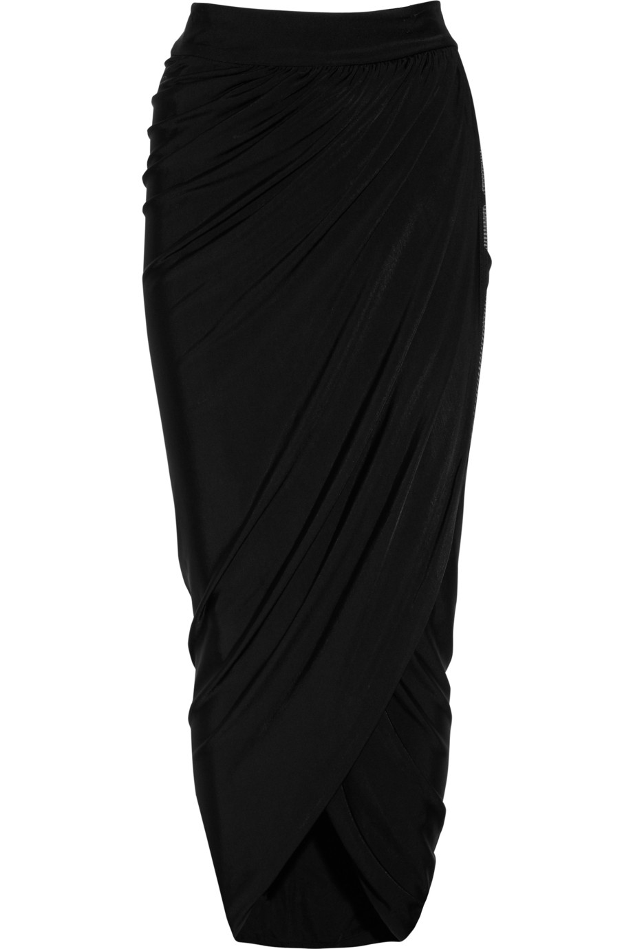 Just cavalli Crepejersey Maxi Wrap Skirt in Black | Lyst