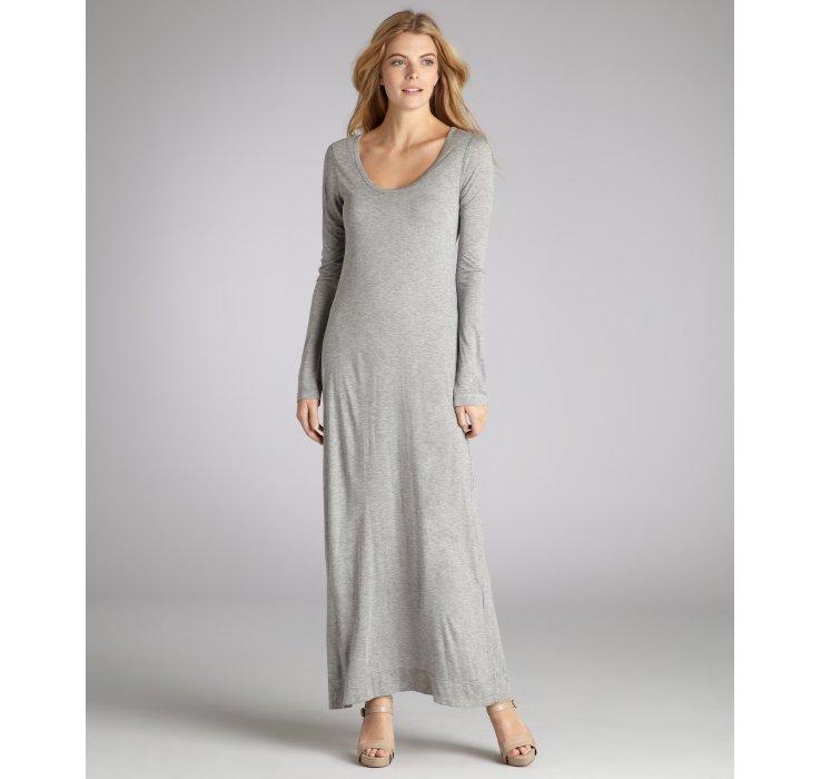 Jersey dress long maxi