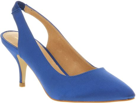 Office Bang On Court Blue Satin in Blue