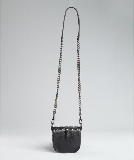 Black with Chain Strap Cross Body Bag