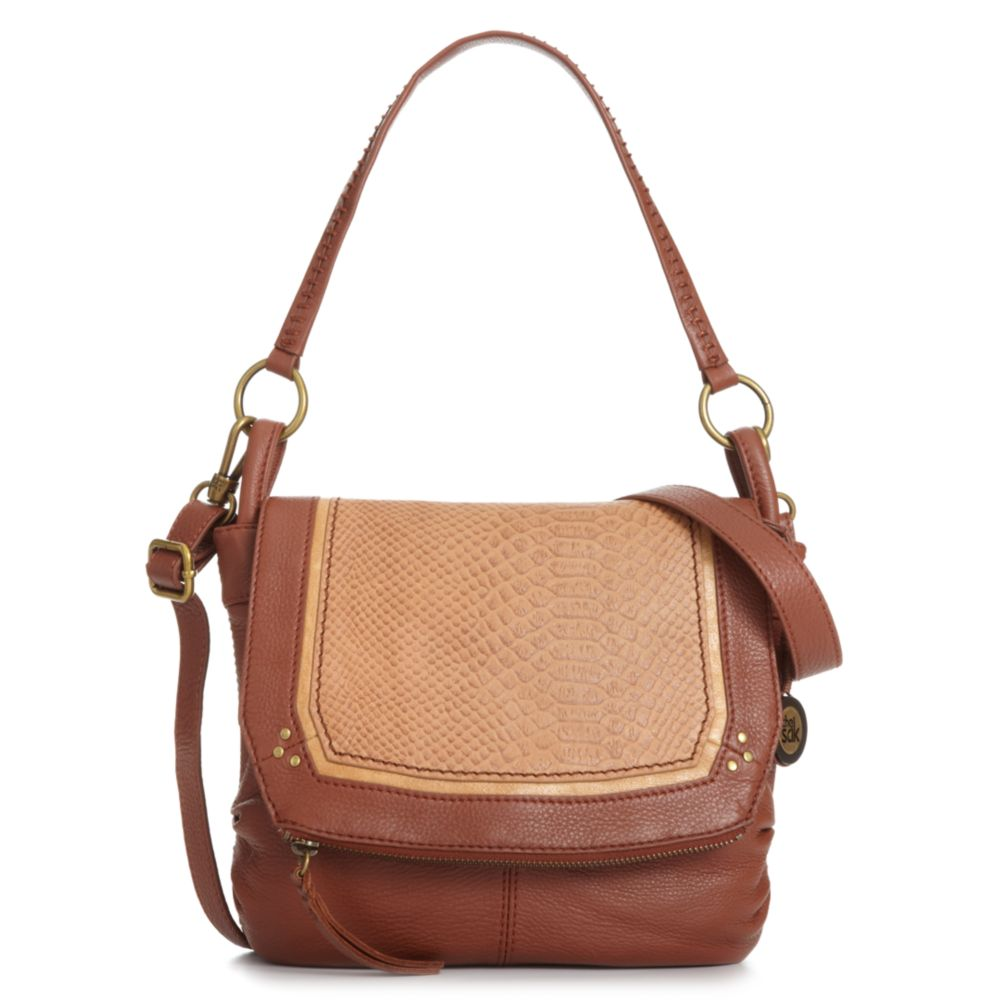 the sak small flap shoulder bag in brown maple multi lyst