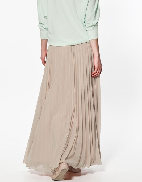 zara pleated skirt in pink make up lyst