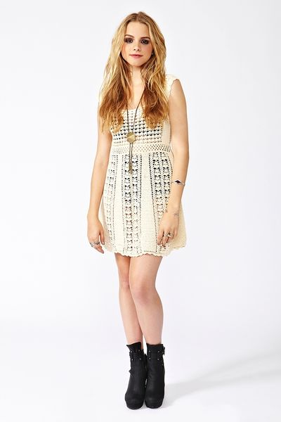 Nasty Gal Crochet Mini Dress In White Ivory Lyst
