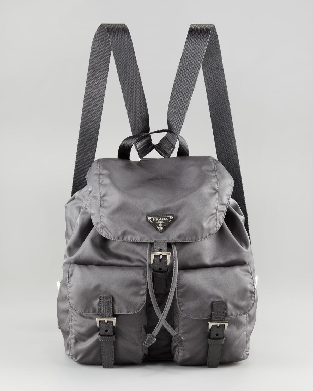 ac61068e18 Lyst - Prada Vela Nylon Backpack in Gray