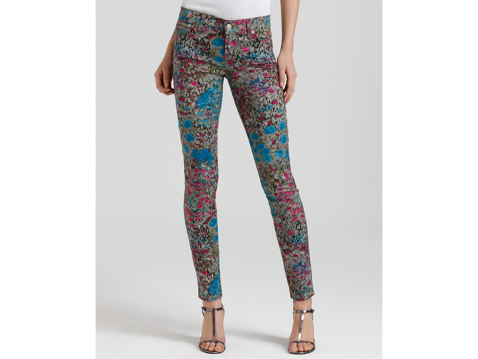 7 for all mankind Jeans Skinny Jeans in Garden Party Floral | Lyst
