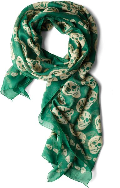 Modcloth Grin and Wear It Scarf in Green (cream) - Lyst