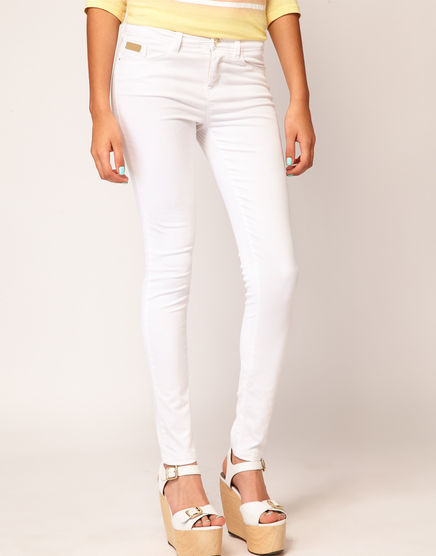 saint tropez coated jeans