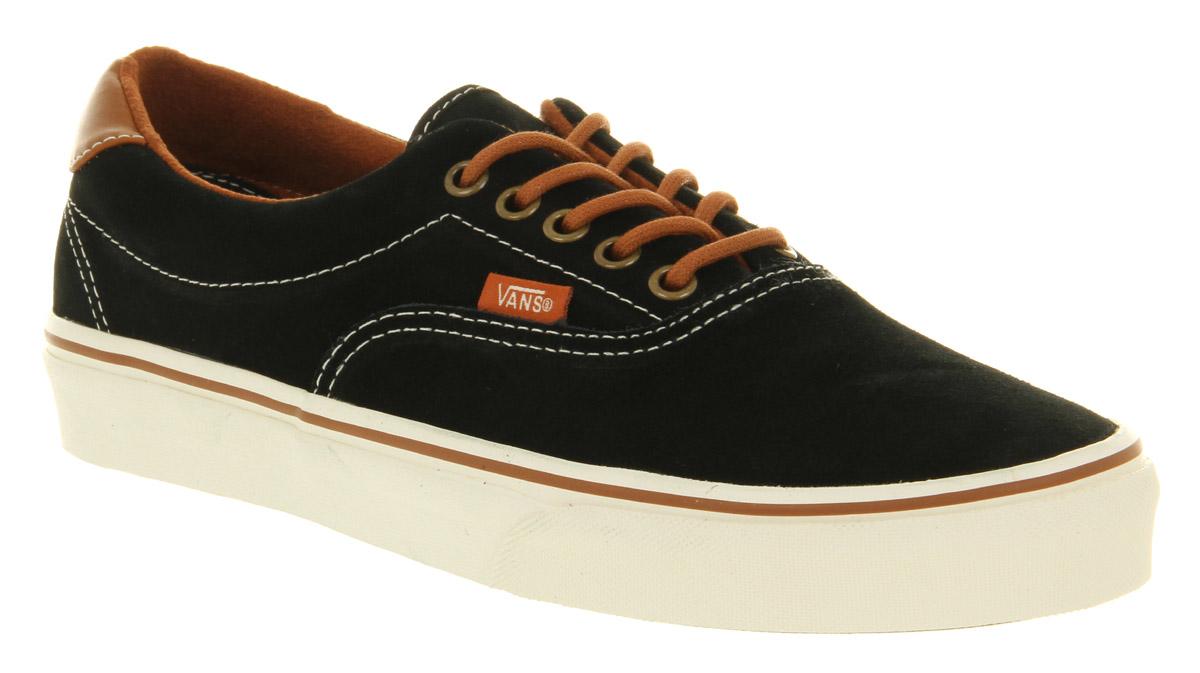 ec3cf2e375e Lyst - Vans Era 59 Suede Black Leather Brown in Black for Men
