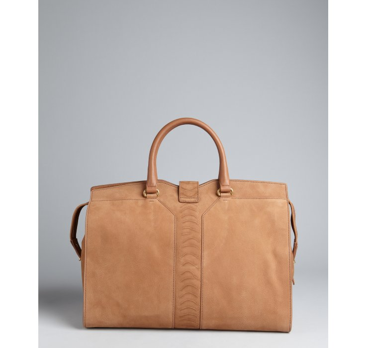 ves st laurent ysl - Saint laurent Tan Leather Cabas Chyc Tote in Beige (tan) | Lyst