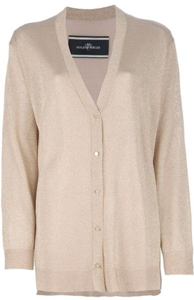 By Malene Birger V Neck Cardigan in Beige (nude) - Lyst