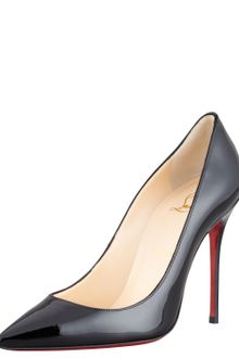 Christian Louboutin Decollete Patent Leather Stiletto Red Sole Pump - Lyst