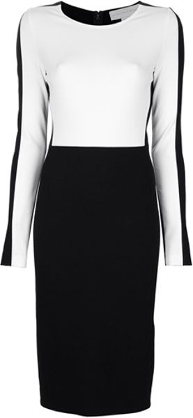 Stella Mccartney Compact Jersey Dress in Black - Lyst