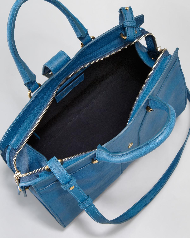 abb0a541e7b0 Saint Laurent Mini Cabas Chyc Bag in Blue - Lyst