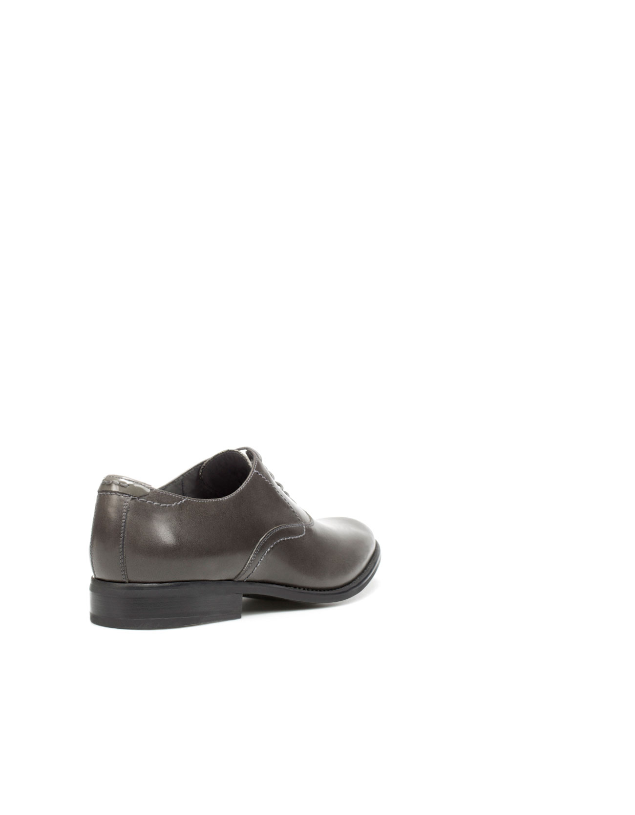 zara dress oxford shoes in gray for lyst