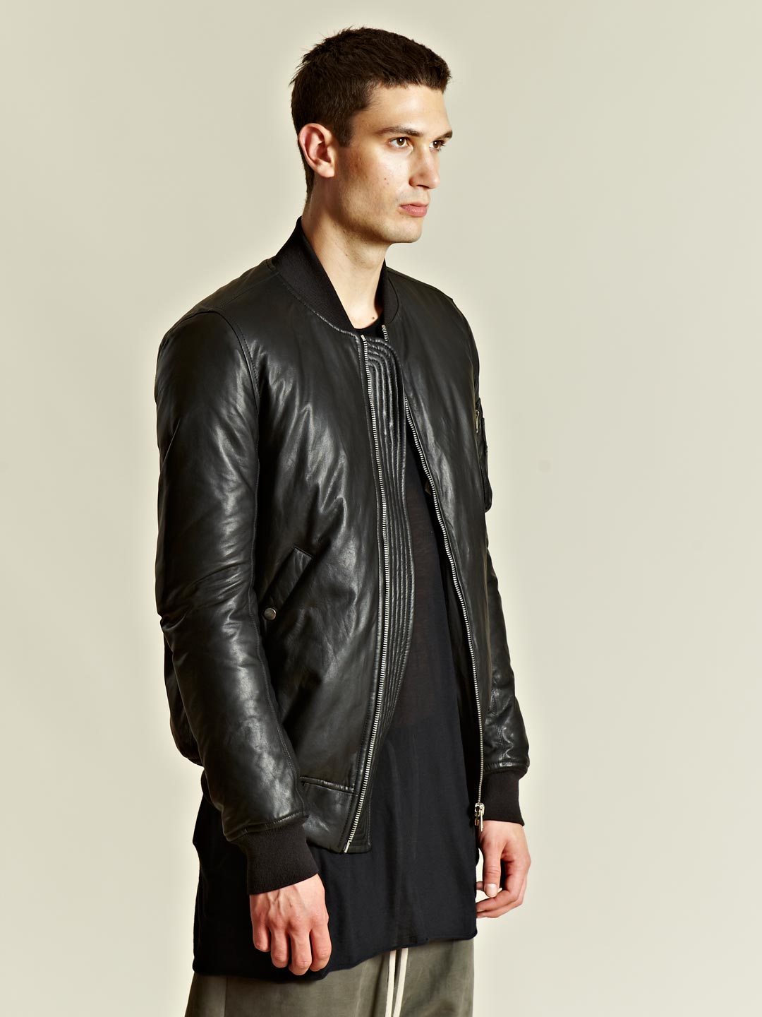 Lyst Rick Owens Rick Owens Mens Padded Woven Bomber