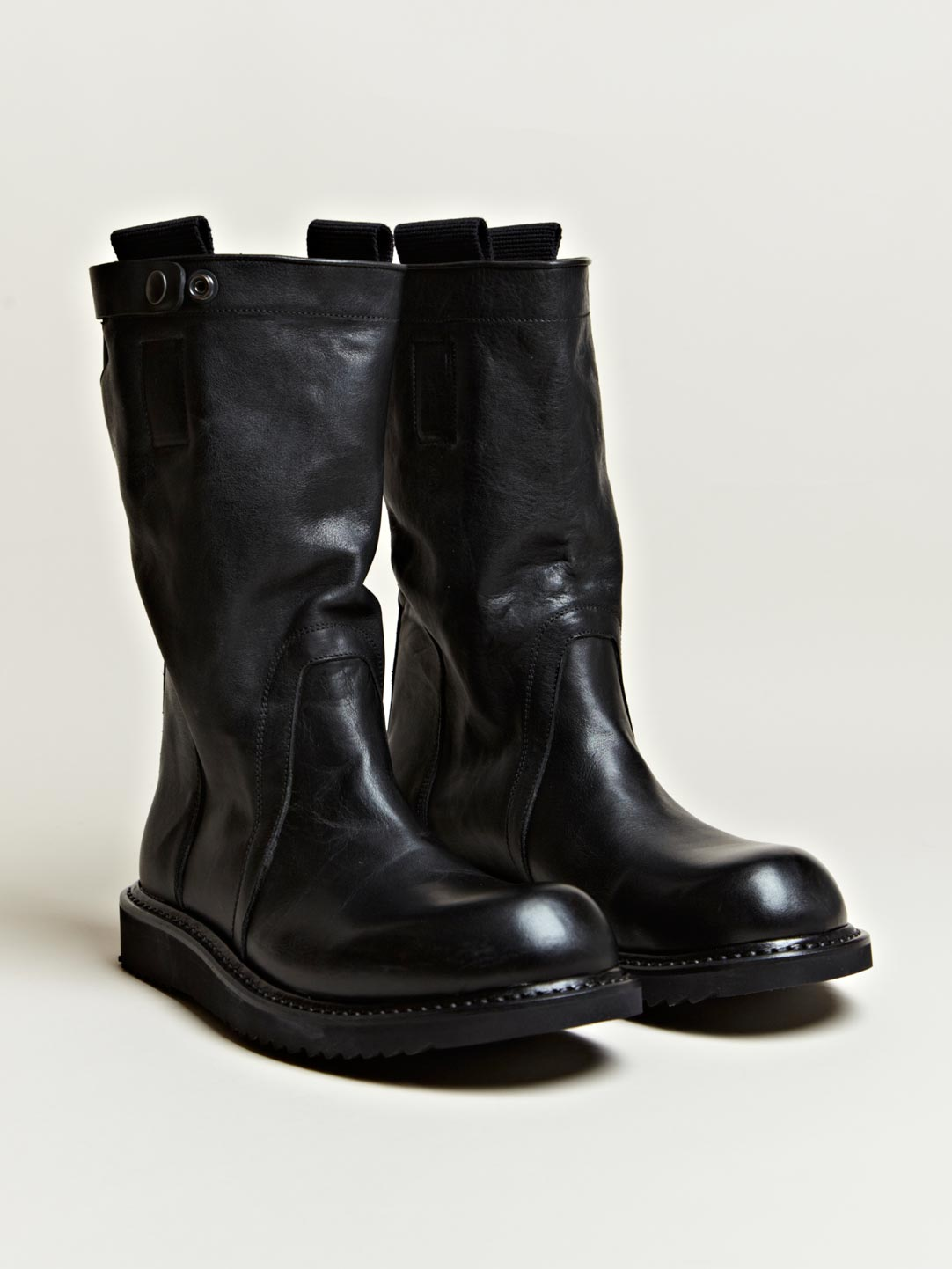 Rick owens Mens Pull On Biker Boots in Black for Men | Lyst