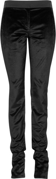 Alexander Wang Brushedvelvet Skinny Pants in Black - Lyst