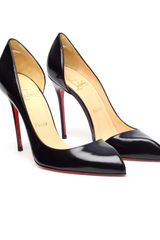 Christian Louboutin Chiarana Cutout Glossed Leather Pumps