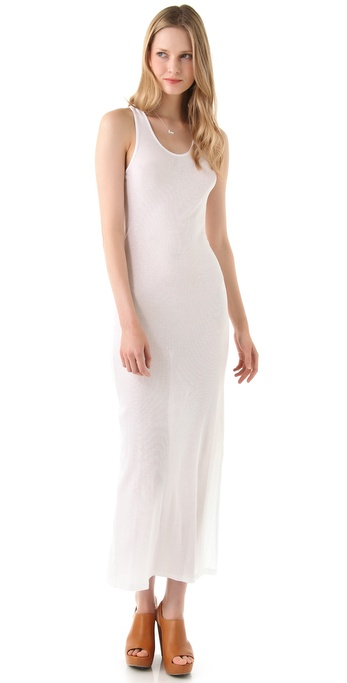 Long White Tank Maxi Dress
