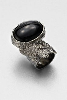 Yves Saint Laurent Antique-Inspired Silvertone Arty Ovale Ring - Lyst