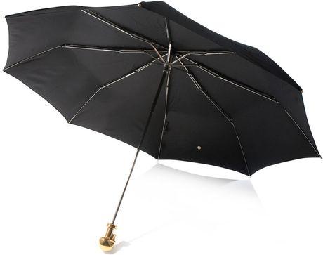 Alexander Mcqueen Skull Handle Umbrella in Black - Lyst