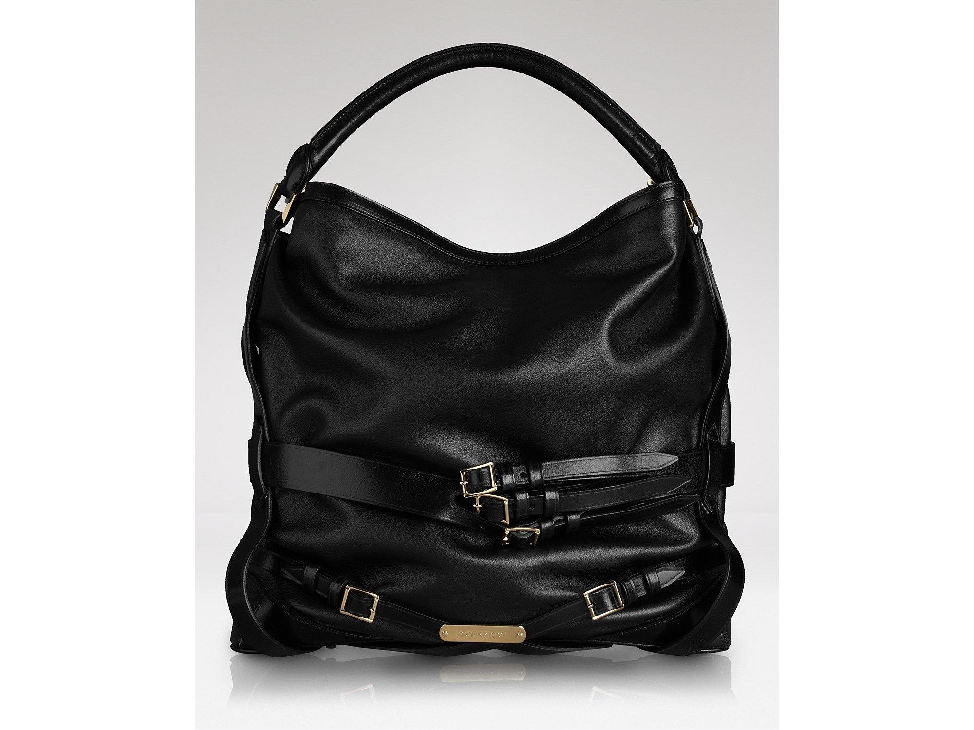 b8ab6631b8b1 Lyst - Hobo Burberry Soft Bridle Leather Medium in Black