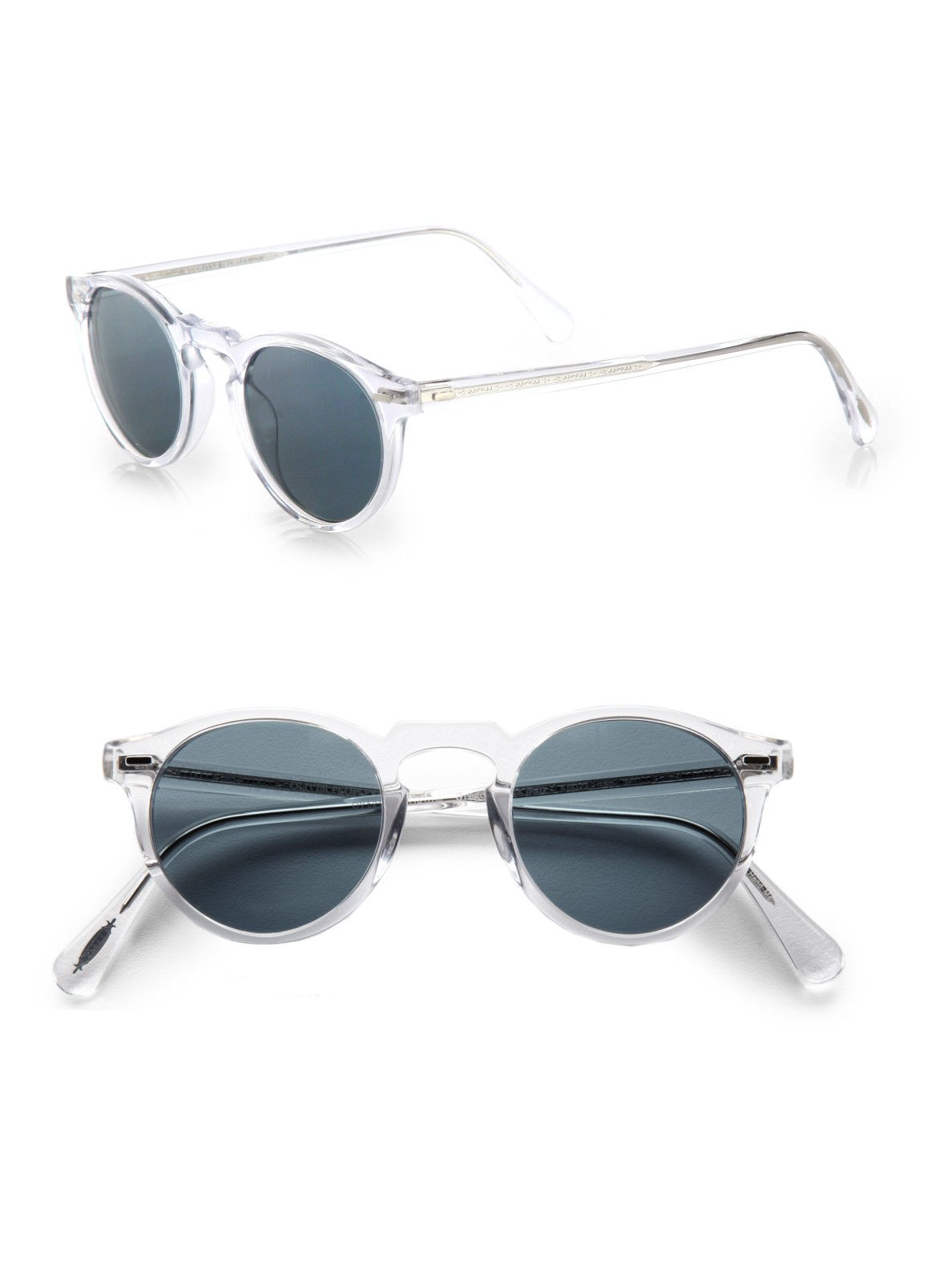 1c65ce27f16 Lyst - Oliver Peoples Gregory Peck Sunglasses in Blue for Men