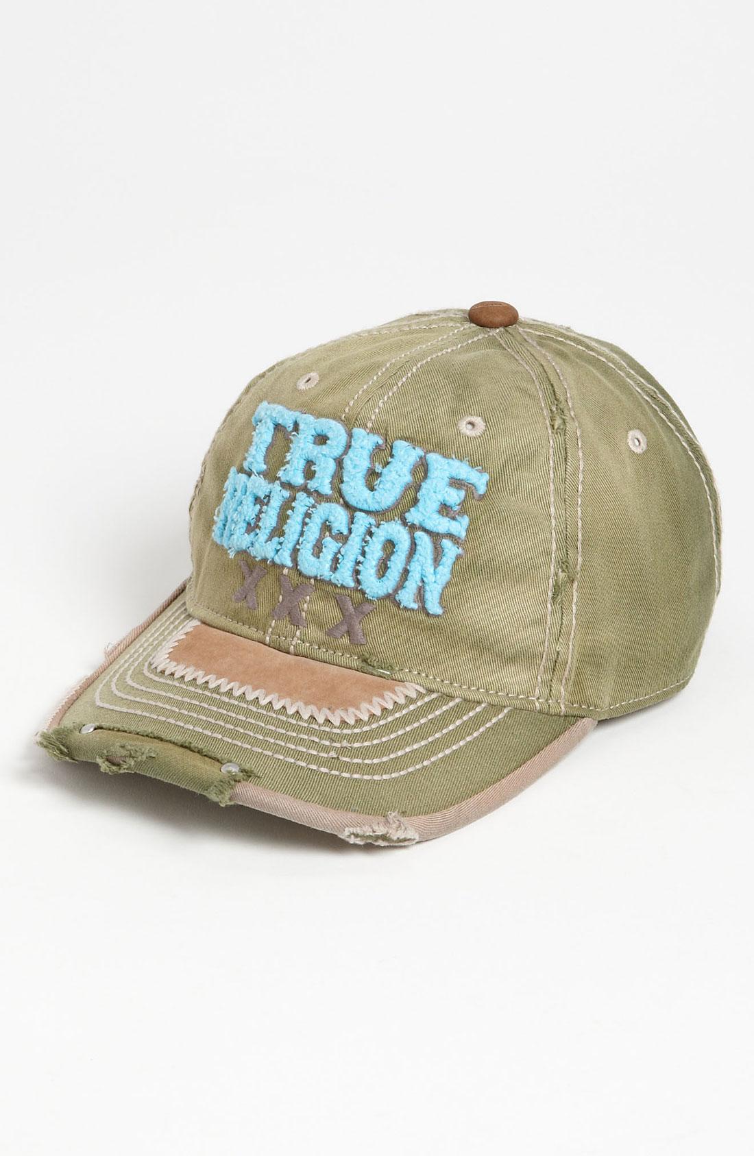 true religion xxx baseball cap in khaki for men army lyst. Black Bedroom Furniture Sets. Home Design Ideas