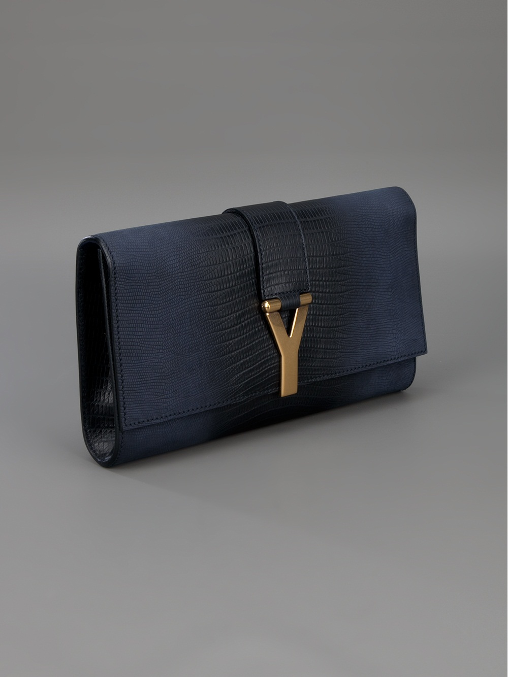 yves st laurent clutch - Saint laurent Cabas Chyc Clutch in Blue | Lyst