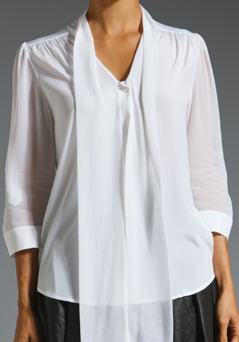 Alice And Olivia Arie Tie Neck Blouse 105