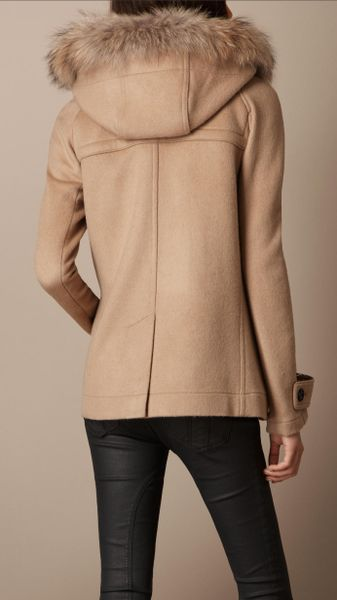 Burberry Brit Wool Duffle Coat in Brown (camel) | Lyst