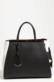 Fendi 2jours Calf Hair Leather Shopper - Lyst