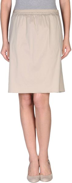 Paule Ka Knee Length Skirt in Beige (pink) - Lyst