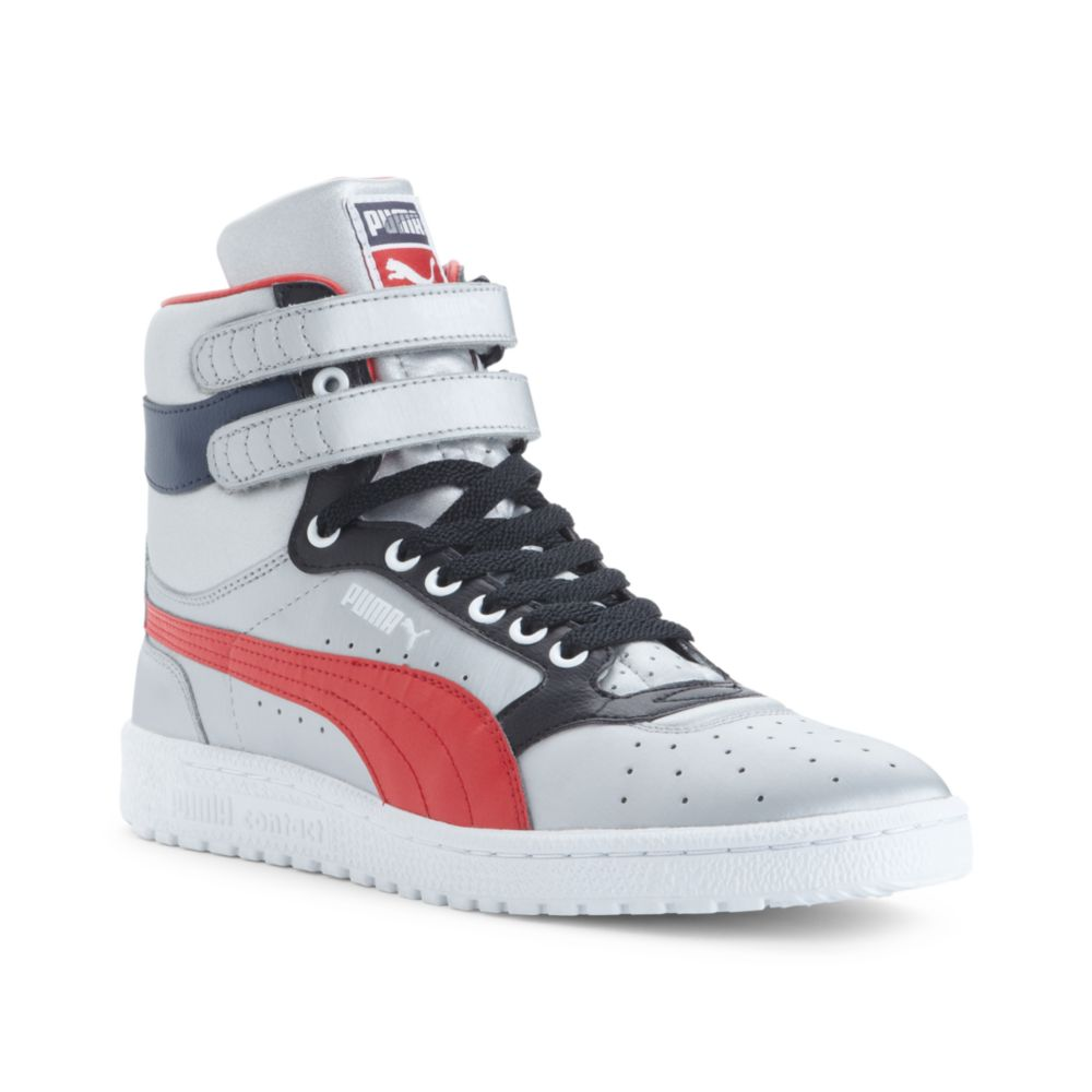 Lyst - PUMA Sky 2 Hi Top Olympic Sneakers in Gray for Men b1916c810