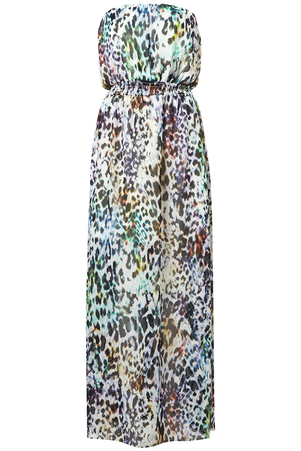 b2753c413b Lyst - TOPSHOP Animal Print Bandeau Maxi Dress