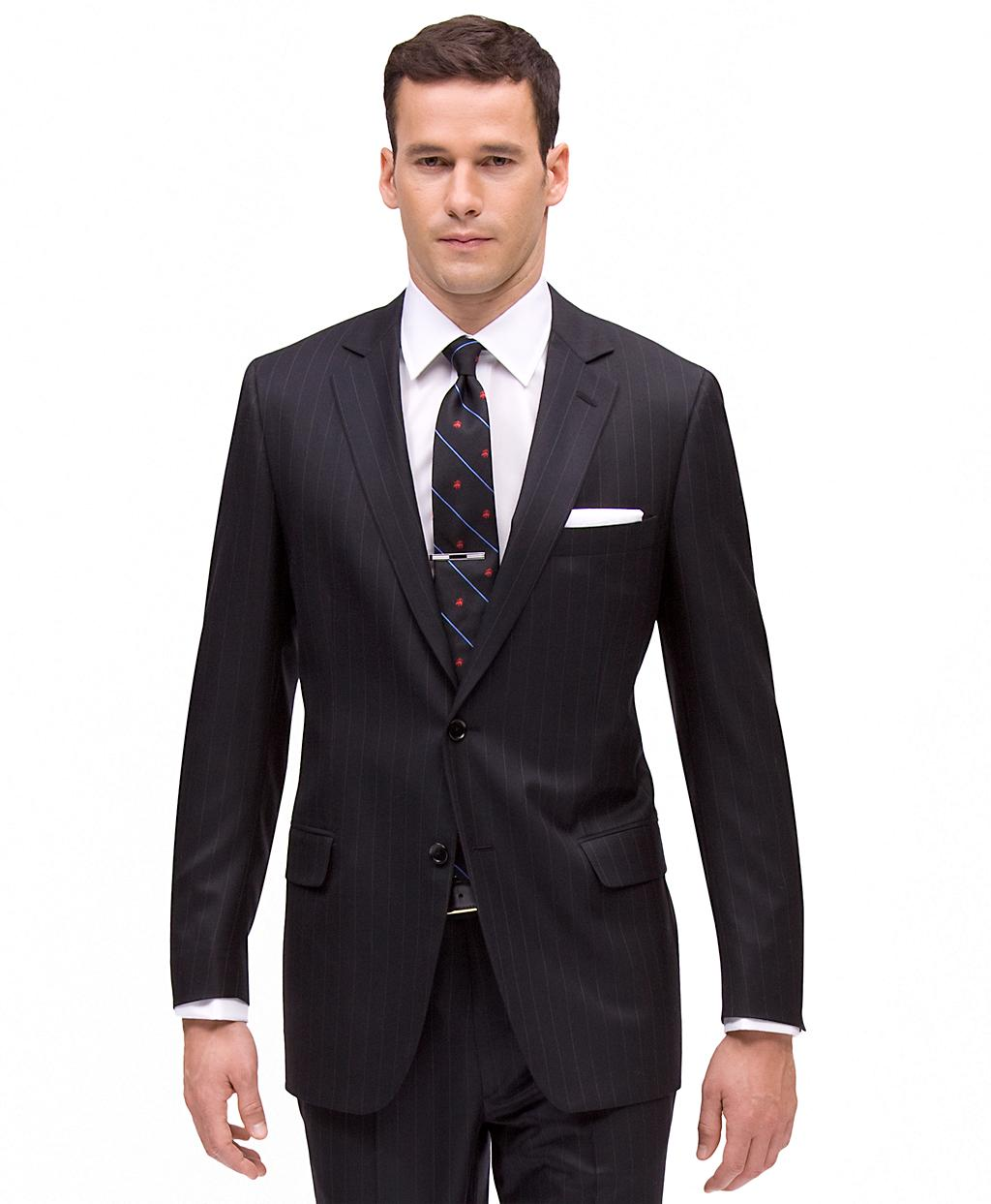 Brooks brothers Fitzgerald Pinstripe Suit in Black for Men | Lyst