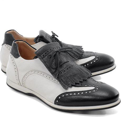 Brooks Brothers Kiltie Golf Shoes in Black for Men (black-white