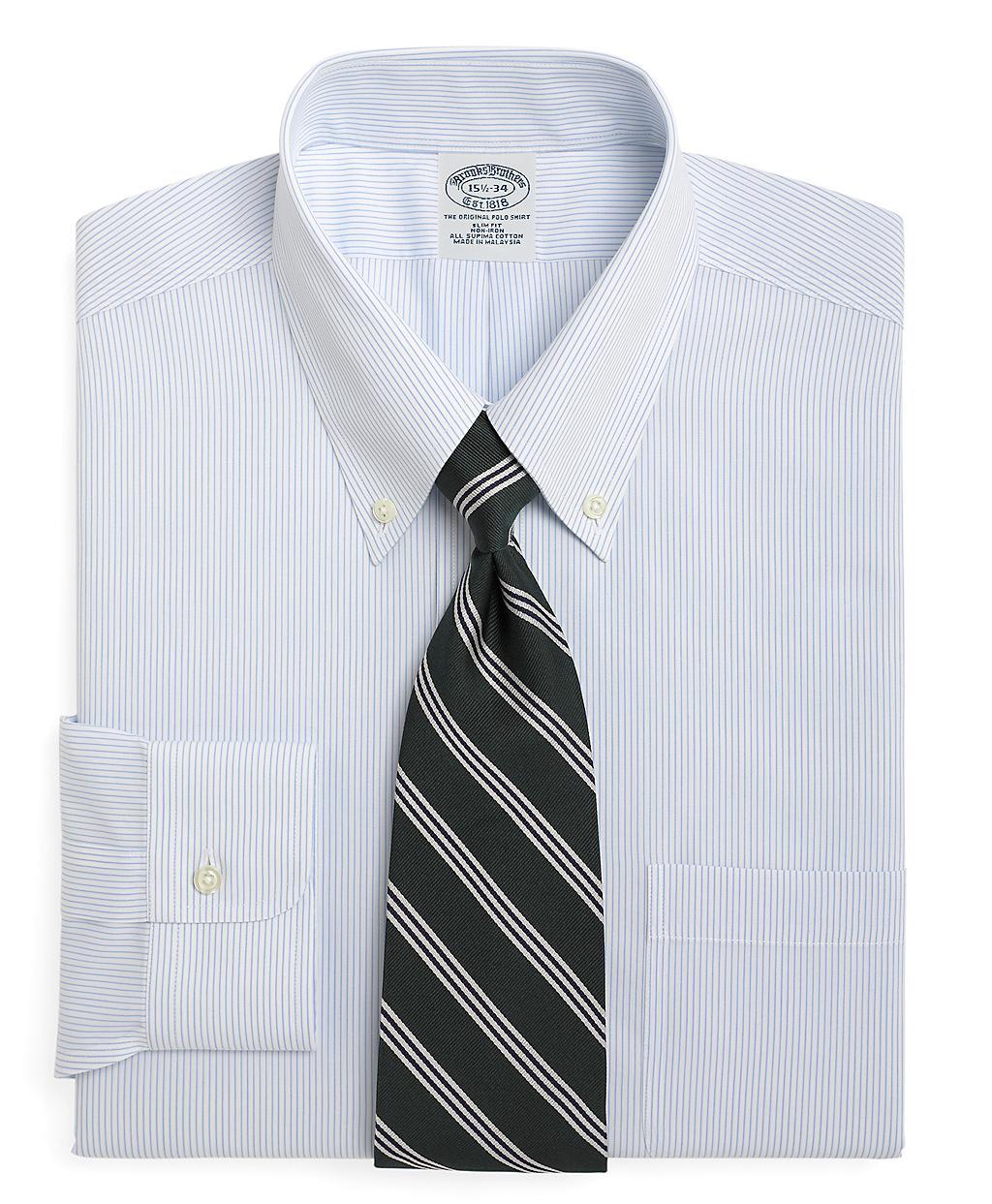 Brooks brothers non iron regent fit mini pinstripe dress for Brooks brothers non iron shirts review