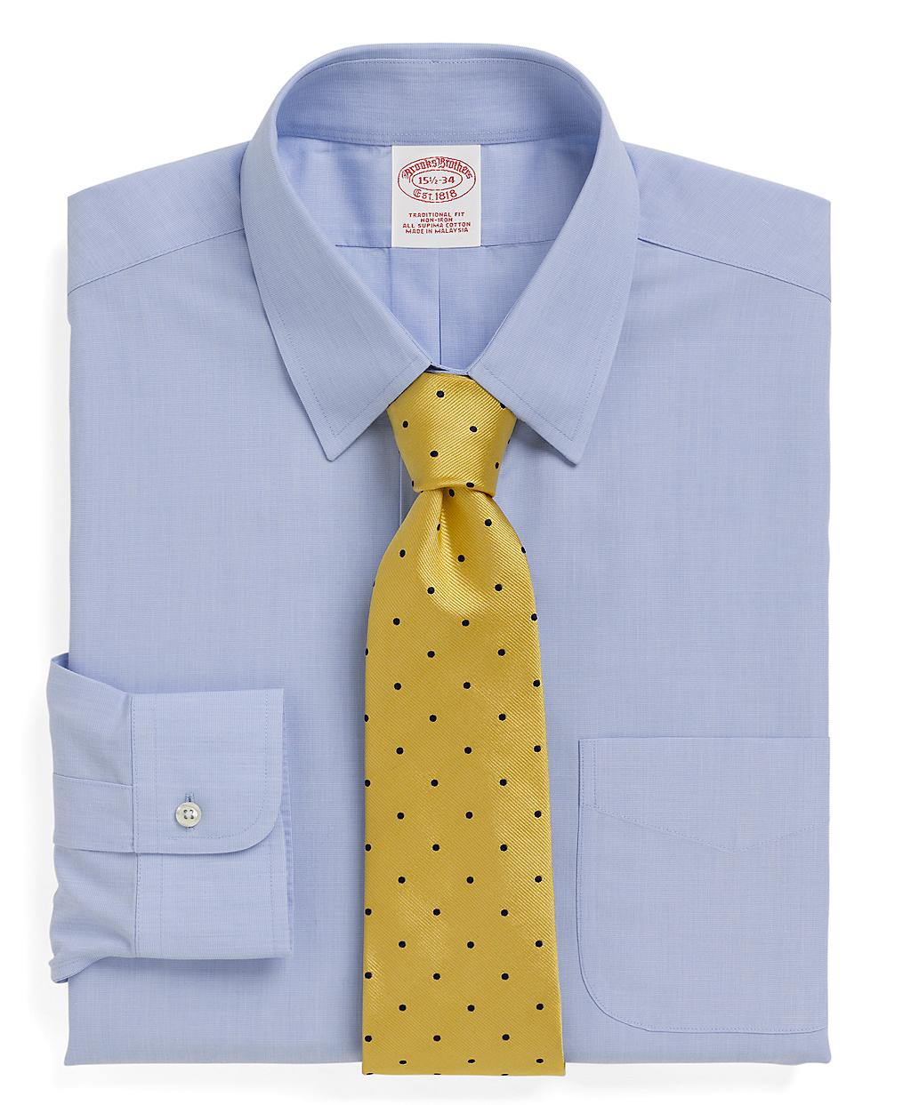 Brooks brothers non iron traditional fit tab collar dress for Brooks brothers non iron shirts review