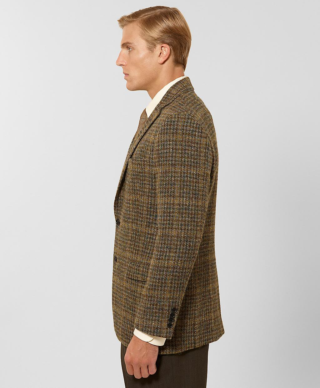 Brooks brothers Fitzgerald Fit Multi Check Harris Tweed Sport Coat ...